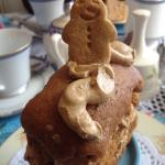 Gorgeous gingerbread man on ginger cake