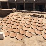 Plates drying on the roof