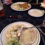 Kaese Schnitzel with potato salad