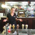 Old fashioned soda fountain and decor adds to the charm!