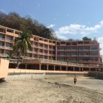Some nice looking hotels but also incomplete ones and a lot of rubbish on the beach