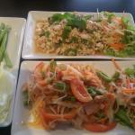 Papaya salad and minced meat @ Newspaper