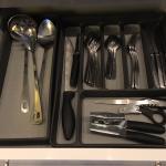 Silverware in kitchen