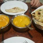 Paneer Makhani and chicken with yogurt sauce