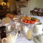 Beautiful breakfast spread
