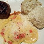 Fillet Mignon, Lobster Ravioli, Mashed Potatoes
