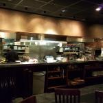 Open air kitchen in Carrabbas