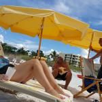 Fabulous chairs and beach umbrellas provided daily
