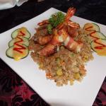 camarones, arroz, deli