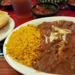 My favorite dish...i get it every time. Two cheese enchilada lunch with queso on the side...