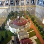 Photos of guests and scale model of West Bayden
