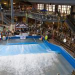 Water park FlowRider surf simulator attraction