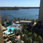 View from our room at Bay Lake Tower