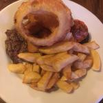 Amazing local produce fantastic steak and the biggest onion rings ever!!