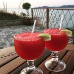 BEST strawberry margaritas made by Jonathan