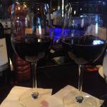 @ the bar for appetizers and wine.  Nice selection of wine by the glass. 1 piece band playing, v