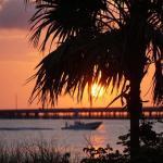 Sunset from Gulf-side beach