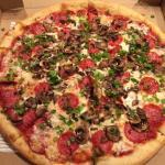 Pepperoni, Fresh Mushrooms & Scallions