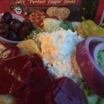 Greek salad & Jets 10 deep dish pizza