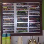 Flavor menu at Grass Roots!