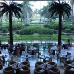 Vista del comedor con un excelente panorama del parque