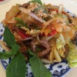 Frais et croquant, un délice : la salade Thaï au boeuf.