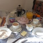 Some of the things you get in your room as breakfast. There is more