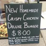 Tasty crispy chicken burger