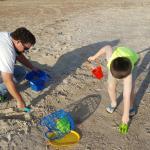 building a quick sandcastle