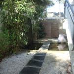 Jardin zen avec accès direct au spa
