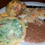 Puffed Taco, Guacamole Tostada