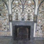 This is the fire place and as you can see the wall surrounding is covered in shells