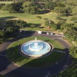 View of the park and fountain from room 1205