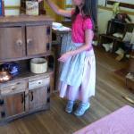 Children play at history in Civil War era kitchen
