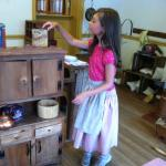 Children learn history by playing in Civil War era house and general store.