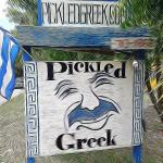 A creative rendition of the Pickled Greek sign.