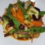 orange peel veggie & tofu stir fry
