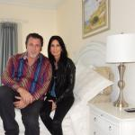 THE SUITE WITH ROSARIO CASSATA AT THE PONDVIEW B&B IN WATERMILL, NY