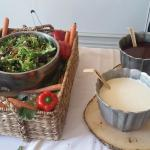 Green Salad and Dressing