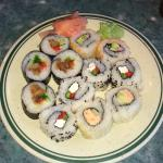 Sushi! My appetizer plate! Thurs. April 21st 2016