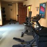 This is the fitness center on the second floor
