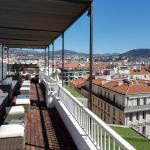 one side of the rooftop terrace on the 8th floor