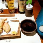 Tempuras au poil et onigiri typique !