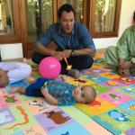 We went to an orphanage. Gede didn't just wait for us outside, he played with the babies too!