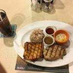 Combination of pork and chicken
