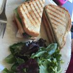 my friend's club sandwich and greens