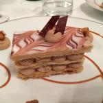 Dessert (31€) : mille-feuilles au beurre d'Échiré,ganache montée caramélia