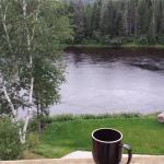 View from the balcony with morning coffee.