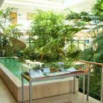 Wasserbecken und Pflanzen im Foyer