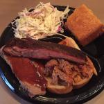 Outstanding! I had the lunch combo with coleslaw and corn bread. The pulled pork, ribs and brisk